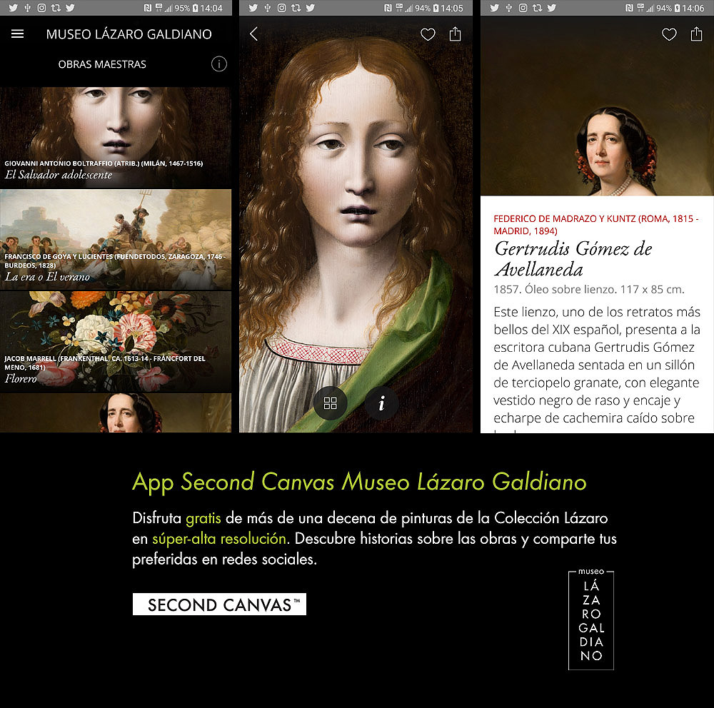 App SECOND CANVAS MUSEO LÁZARO GALDIANO